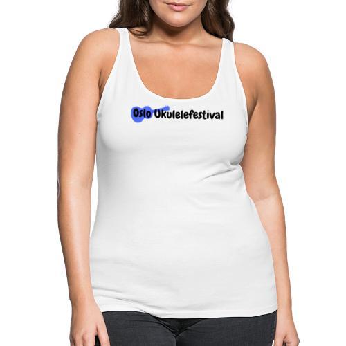 Oslo Ukulelefestival blå logo - Premium singlet for kvinner