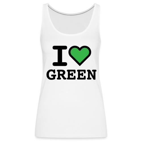 i-love-green-2.png - Canotta premium da donna