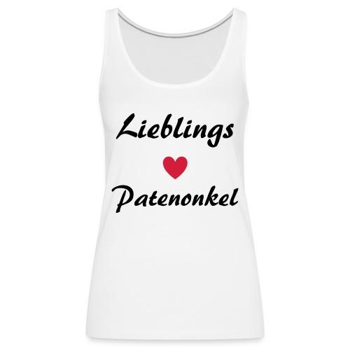 Lieblings Patenonkel mit Herz - Frauen Premium Tank Top