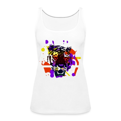 Tiger Splatter Motive - Women's Premium Tank Top