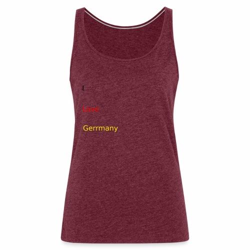 deutschland germany liebe love ich ego farbe - Frauen Premium Tank Top