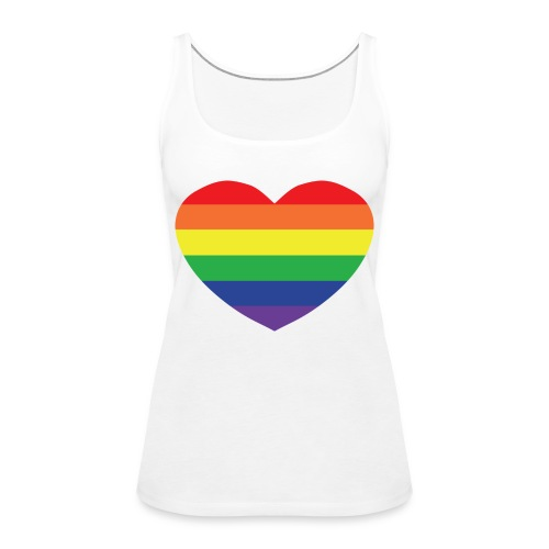 Rainbow heart - Women's Premium Tank Top