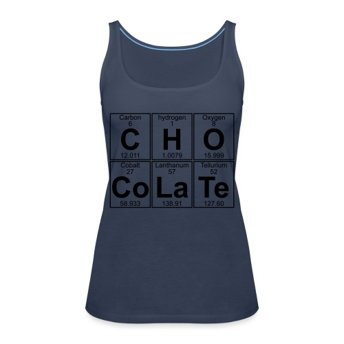 C-H-O-Co-La-Te (chocolate) - Full - Women's Premium Tank Top