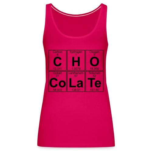 C-H-O-Co-La-Te (chocolate) - Full - Women's Premium Tank Top