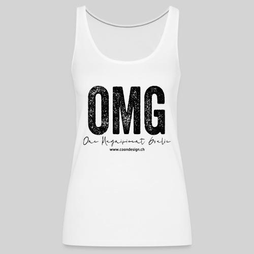 OMG - One Magnificent Goalie - Frauen Premium Tank Top