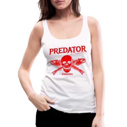 Predator fishing red - Frauen Premium Tank Top
