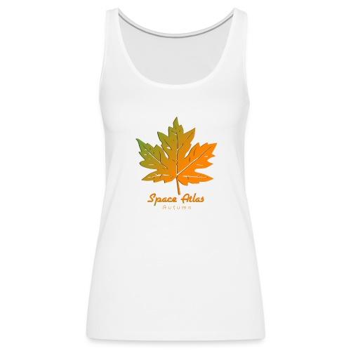 Space Atlas Long Sleeve T-shirt Autumn Leaves - Dame Premium tanktop