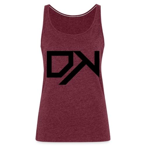 DewKee Logo Cap Black - Women's Premium Tank Top