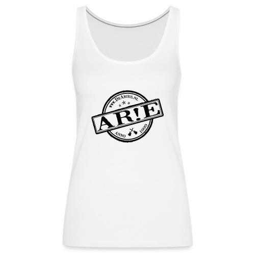 Backdrop AR E stempel zwart gif - Vrouwen Premium tank top