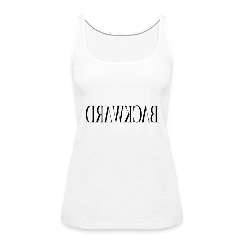 Backward black - Women's Premium Tank Top