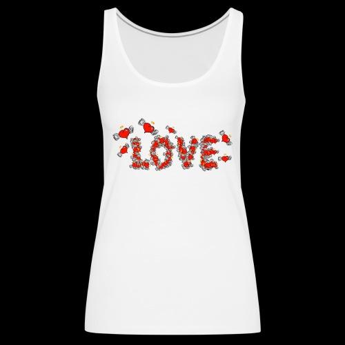 Flying Hearts LOVE - Dame Premium tanktop