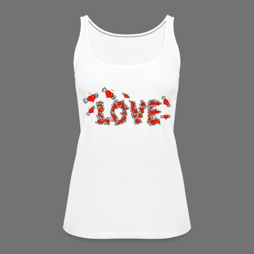 Flying Hearts LOVE - Dame Premium tanktop