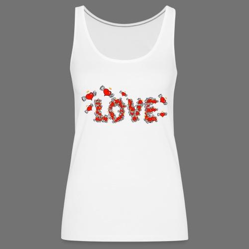 Latające miłości serc - Tank top damski Premium