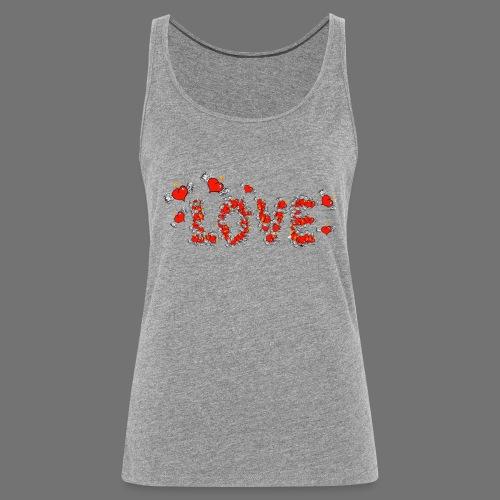 Flying Hearts LOVE - Women's Premium Tank Top