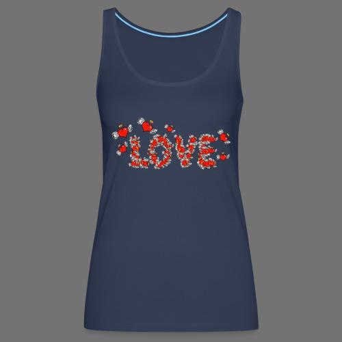 Flying Hearts LOVE - Naisten premium hihaton toppi