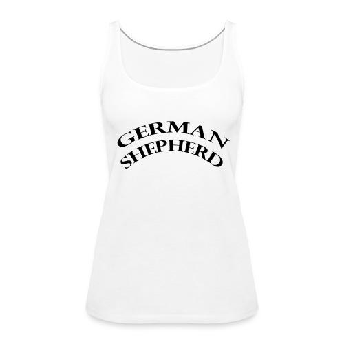 germanshepherd - Naisten premium hihaton toppi