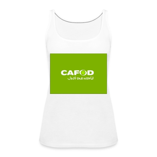 CAFOD Logo greenback - Women's Premium Tank Top