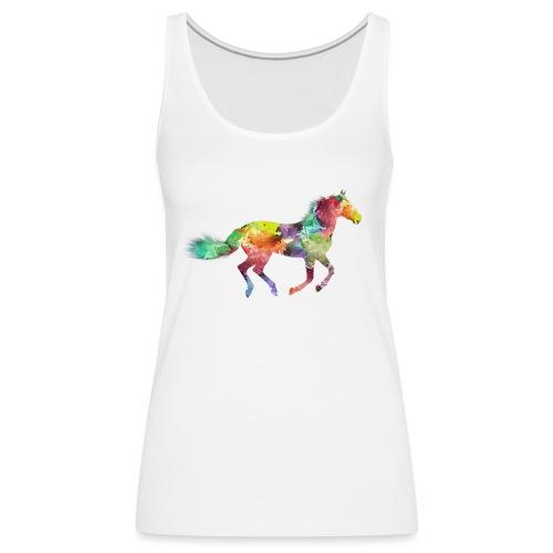 Cheval multicolore - Débardeur Premium Femme