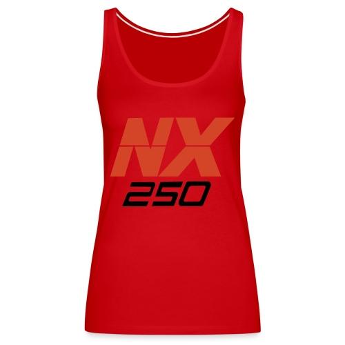 nx250 logo transparant - Vrouwen Premium tank top