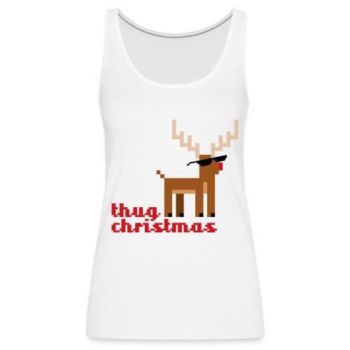 Rudolph the Red Nosed Reindeer Pixel - Women's Premium Tank Top