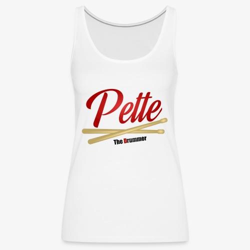 Pette the Drummer - Women's Premium Tank Top