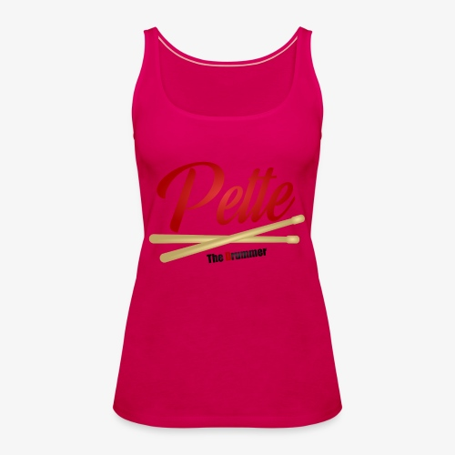 Pette the Drummer - Women's Premium Tank Top