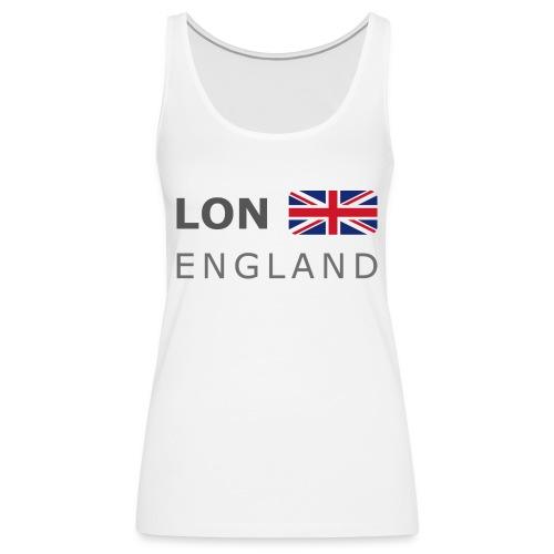 LON ENGLAND BF dark-lettered 400 dpi - Women's Premium Tank Top
