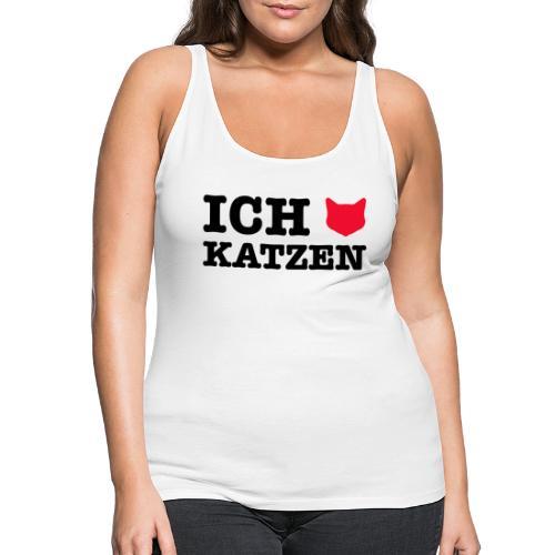 Ich liebe Katzen mit Katze als Herz - Frauen Premium Tank Top