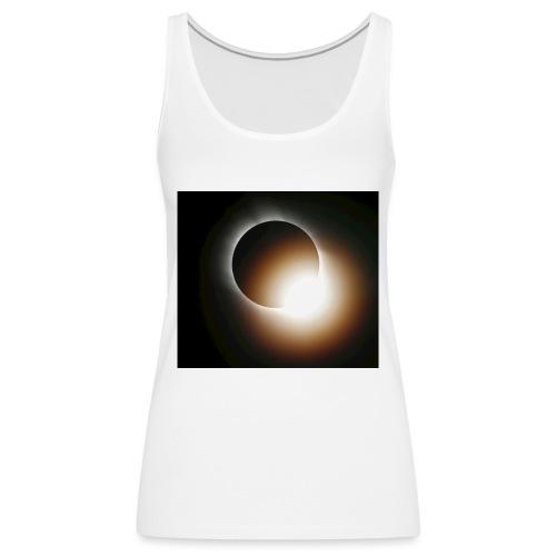 total solar eclipse 0808 - Premiumtanktopp dam