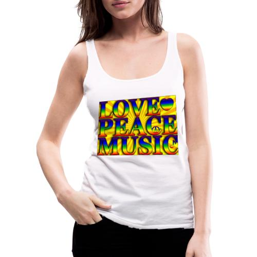 Love Peace and Music - Women's Premium Tank Top