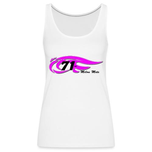 Logo Milou transparant Lichte kleding 2 - Vrouwen Premium tank top