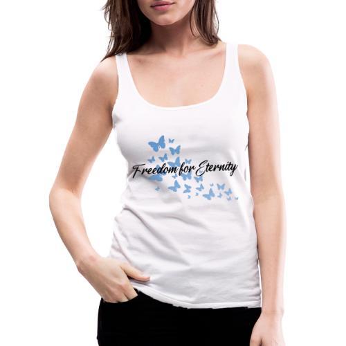 shirt blau text schwarz - Frauen Premium Tank Top
