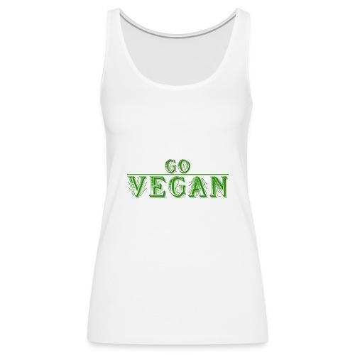 Go Vegan Langarmshirt Herren - Frauen Premium Tank Top