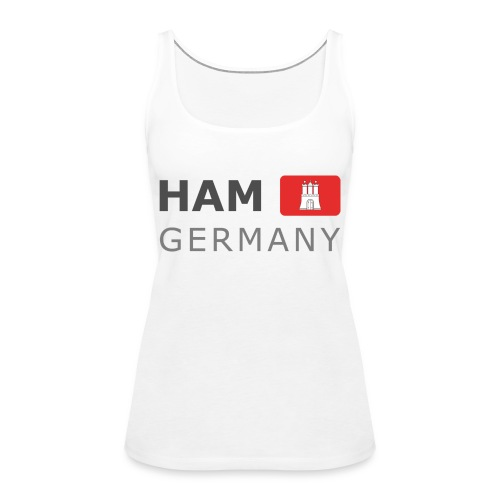 HAM GERMANY HHF dark-lettered 400 dpi - Women's Premium Tank Top