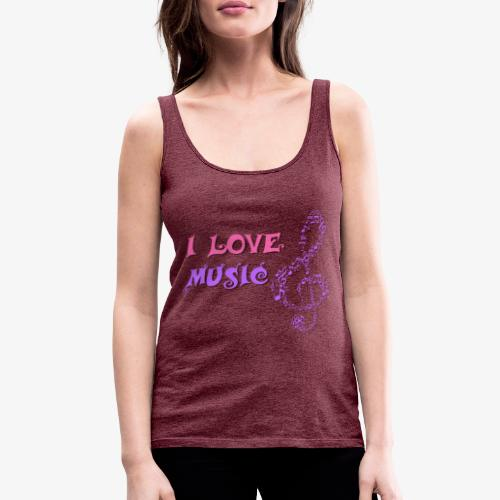 Love Music - Camiseta de tirantes premium mujer