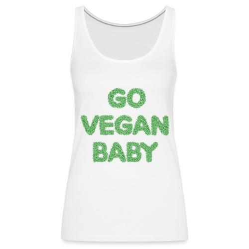 go vegan baby - Dame Premium tanktop