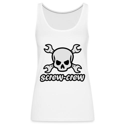 Logo_screw-crew_RZ_v.eps - Frauen Premium Tank Top