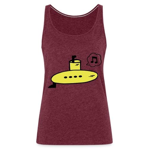 Singing Yellow Submarine - Women's Premium Tank Top
