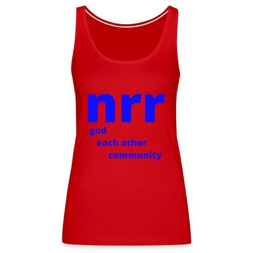 NEARER logo - Women's Premium Tank Top