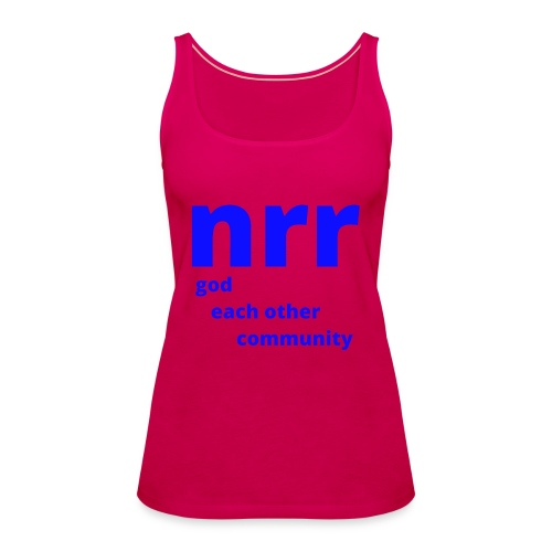 NEARER logo - Women's Premium Tank Top