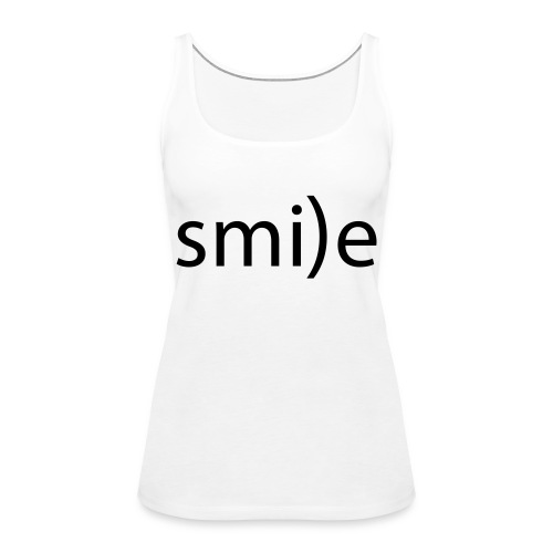 smile Emoticon lächeln lachen Optimist positiv yes - Women's Premium Tank Top