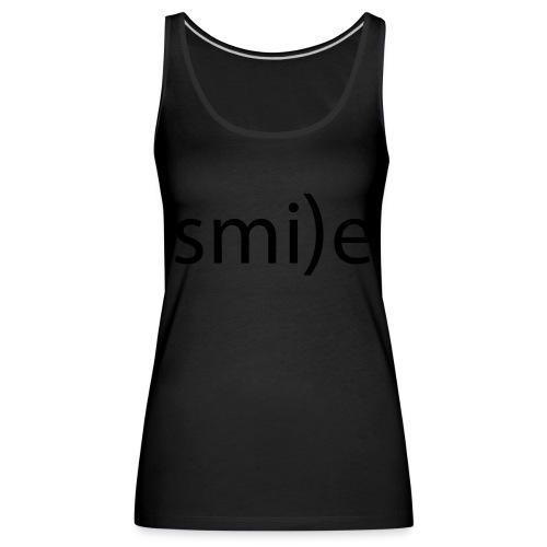 smile Emoticon lächeln lachen Optimist positiv yes - Women's Premium Tank Top
