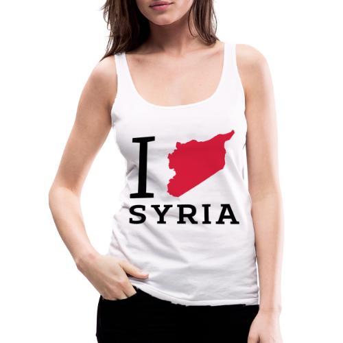 I love Syria - Vrouwen Premium tank top