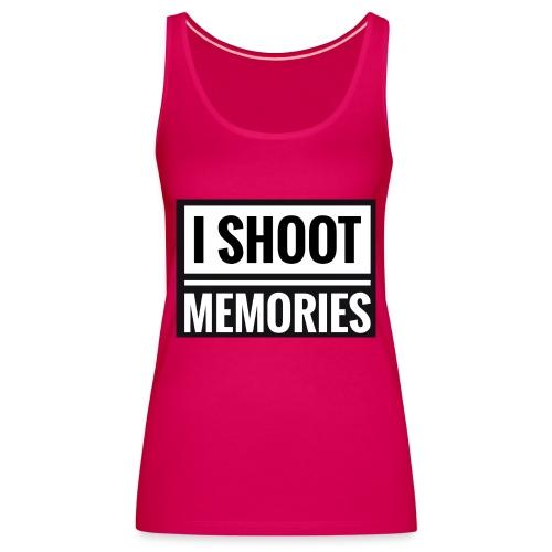 I SHOOT MEMORIES, BLACK EDITION - Dame Premium tanktop