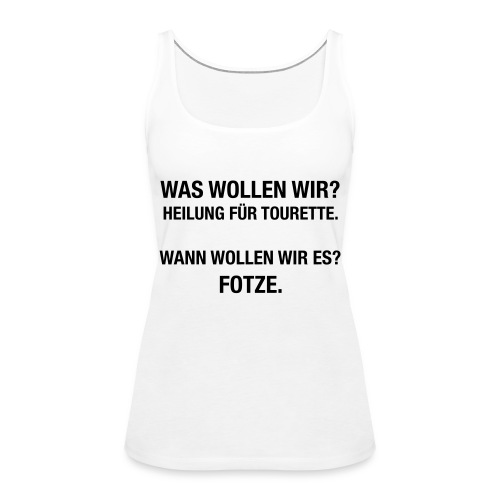 Tourette - Frauen Premium Tank Top