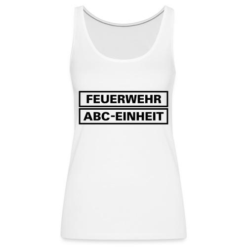 Feuerwehr ABC Einheit Rahmen - Frauen Premium Tank Top