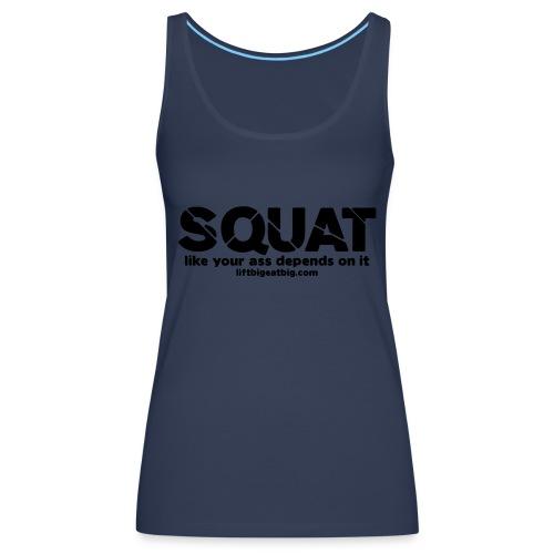 squat - Women's Premium Tank Top