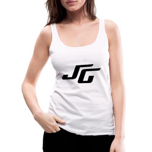 JG Logo schwarz - Frauen Premium Tank Top