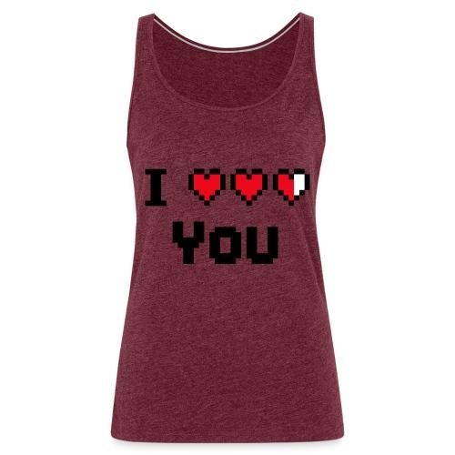 I pixelhearts you - Vrouwen Premium tank top