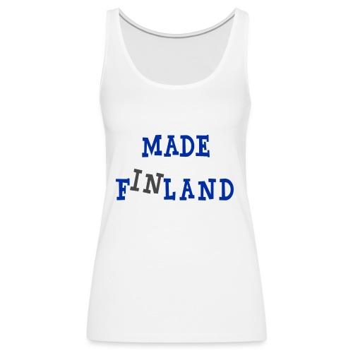 Made in Finland - Naisten premium hihaton toppi